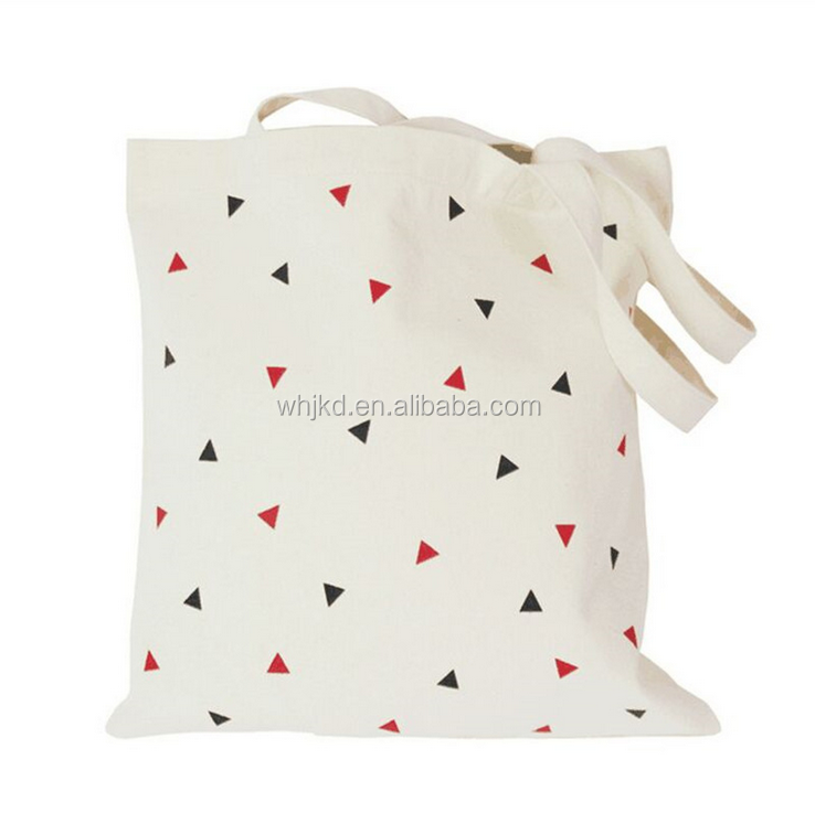 Wholesale fashion custom printed cotton canvas tote bags