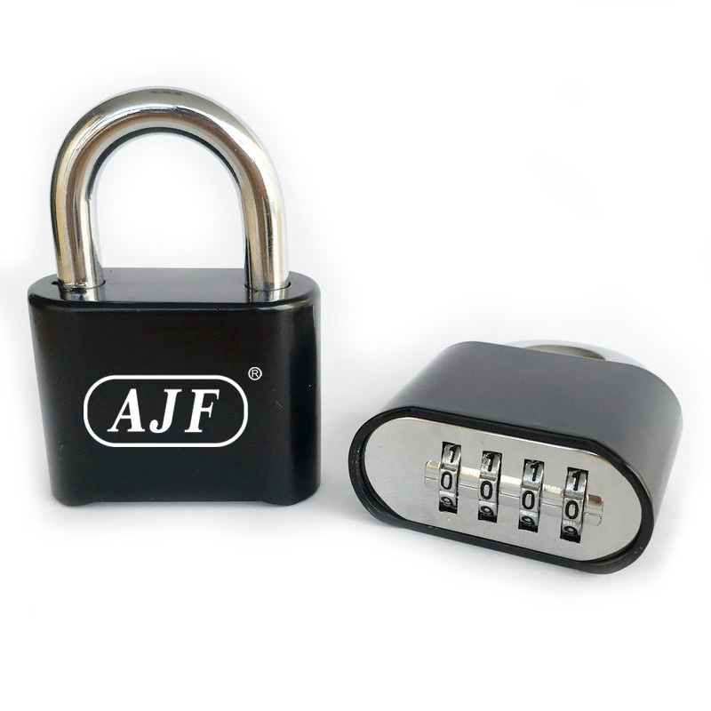 AJF big size durable resettable 4 dial bottom Combination padlock