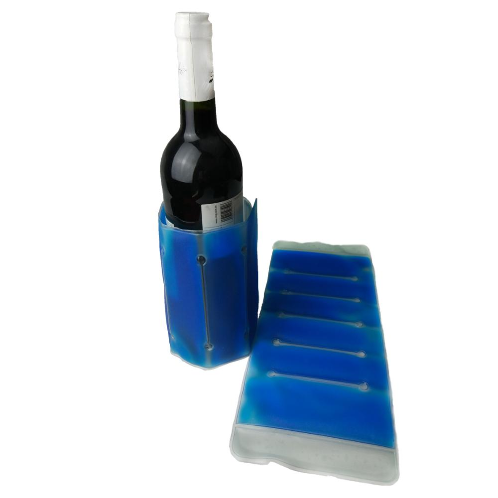 Rapid Ice Cooler in the freezer for 6 hours to activite the cooling gel wine bottle cold gel wrap ice sleeve