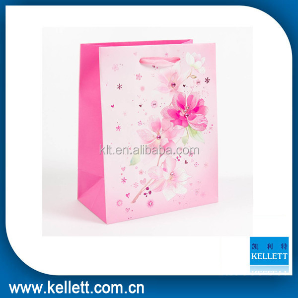custom reusable paper shopping bags gift paper bags with better price
