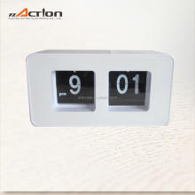 Big number auto flip clock table alarm customized logo gift clock antique table clock
