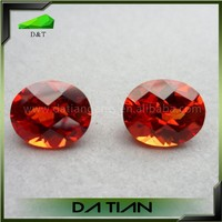 China gemstone supplier 8*10mm synthetic corundum yellow/orange stones prices