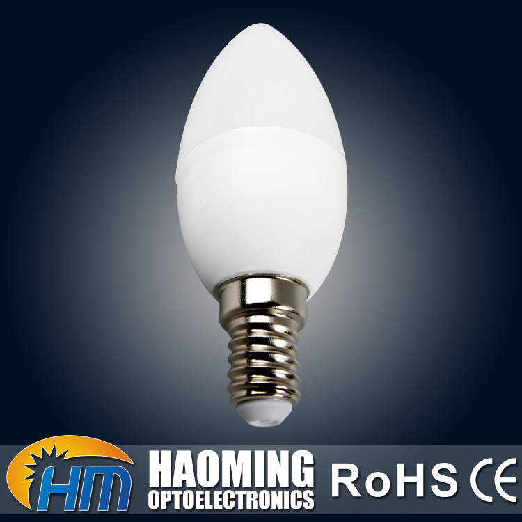 CCC CE ROHS 7W E26 4000K PBT PC housing candle shape LED waterproof light bulb