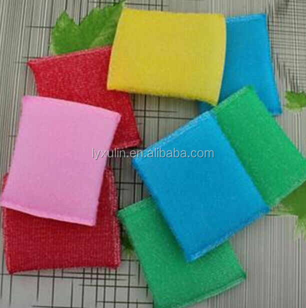 China factory Ultrasonic microfiber kitchen sponge scouring pad
