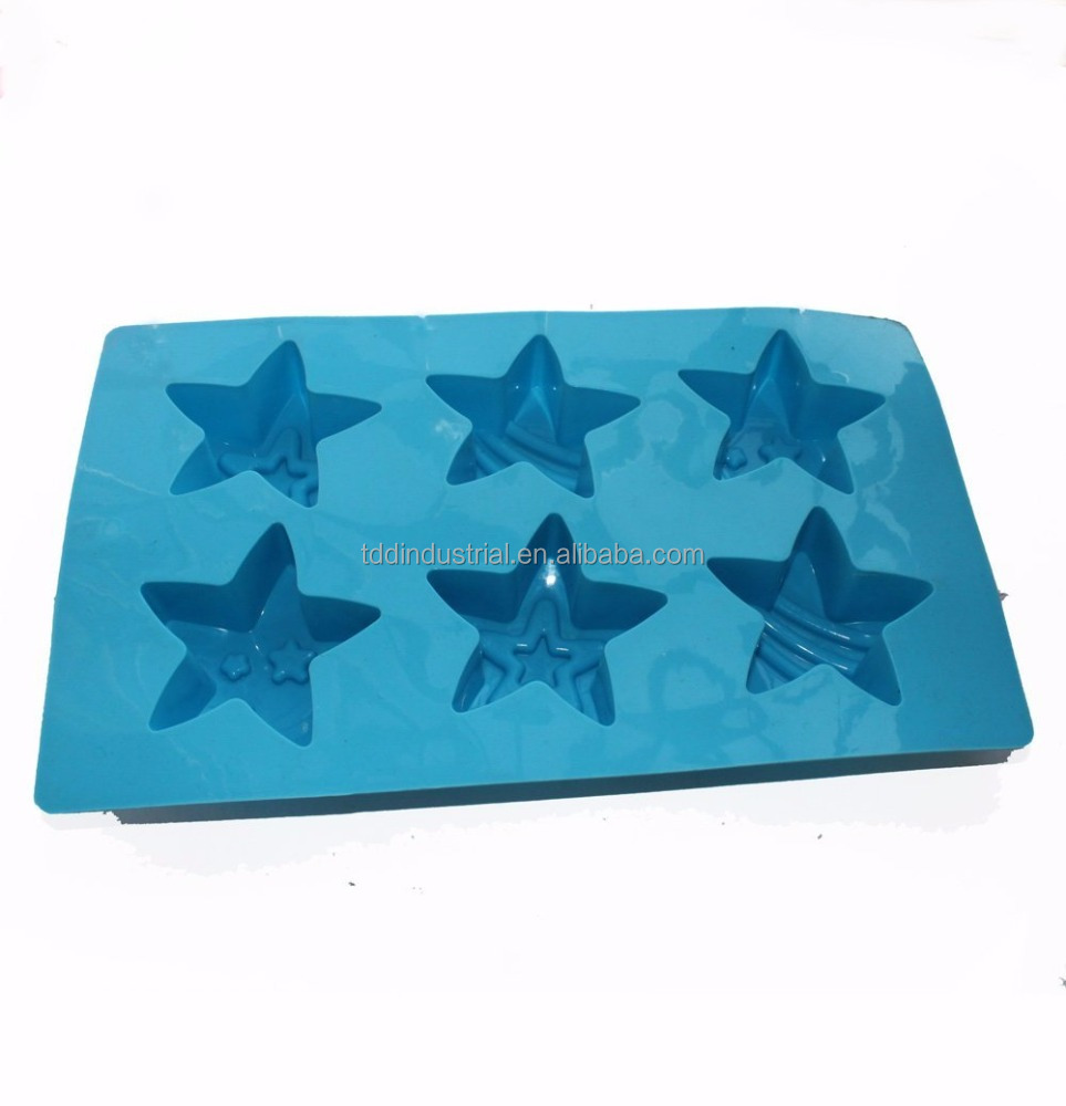 Five-pointed Star Soap Making Silicone Mold Chocolate Jello Cake Ice Cream Pan mold
