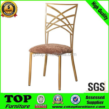 New design Stackable Restaurant Banquet Iron Chair Suppier