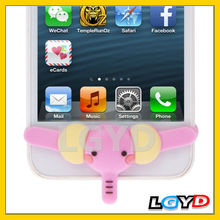 New design Smarty Pants Elephant Silicone Home Button Sticker for iPhone 5 /for iPhone 4 & 4S (Pink)