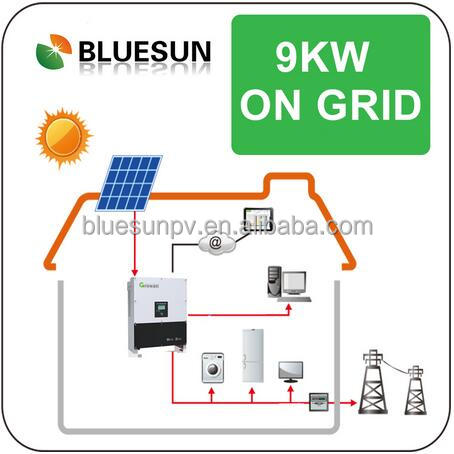 Completed 9000w grid tied solar generator 9kw solar power system home