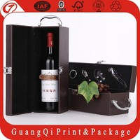 OEM delicate manufactuer quality assurance stand leather wine box