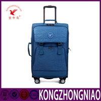 Full size soft trolley luggage sets beautiful colorful newest design luggage bag