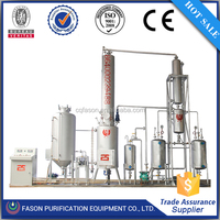 Low temperature distillation water removal used motor oil to diesel plant