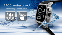 SNOPOW W1S 3G transflective screen IP68 waterproof android 4.4 dual core 1G RAM 8G ROM small watch mobile phone