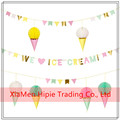 New design Triangle Banner Pennant Flag Paper Bunting Babyshower Weddings Party Decor