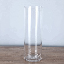 wholesale round cheap clear cylinder <strong>glass</strong> vase