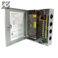 9-CH 12V Power Supply Box For CCTV 10A 120W