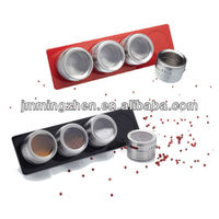 magnetic stainless steel spice can set, spice jar, seasoning can, seasoning jar set, cruet can