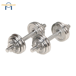 2019 Hot Selling Professional Weight  Training Adjustable Dumbbell Stand Stainless Steel Chrome Dumbbell Set 40kg
