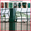 3.8/4.0mm polyester coating high quality curved welded wire mesh fence with best price (China manufacture)