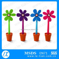 LT-Y990 Cheap Rubber Flower Pen Gift Pen for Kids