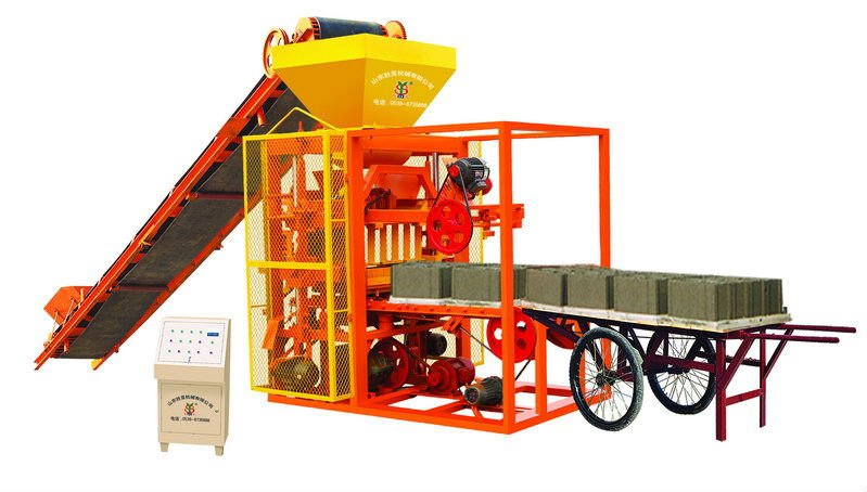 Shengya Brand QTJ4-26A cement brick making machine in Africa