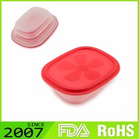 Best-Selling Lfgb Certified Low Profile Foldable Silicone Restaurant Modern Novelty Food Containers