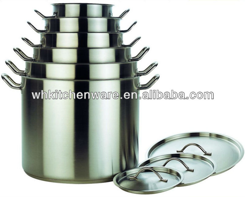 Commercial Quality Large Stainless Steel Stock pot For hotel & restaurant