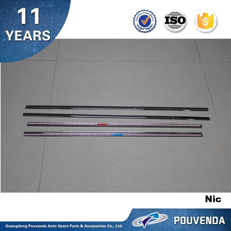 Stainless Steel chrome Car window trim For Sportage 2007+ 4 pcs/set Auto accessories from pouvenda
