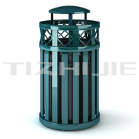 Customized Color Municipal Parks Galvanized Steel handmade waste bin