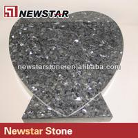 Polished blue pearl granite headstone
