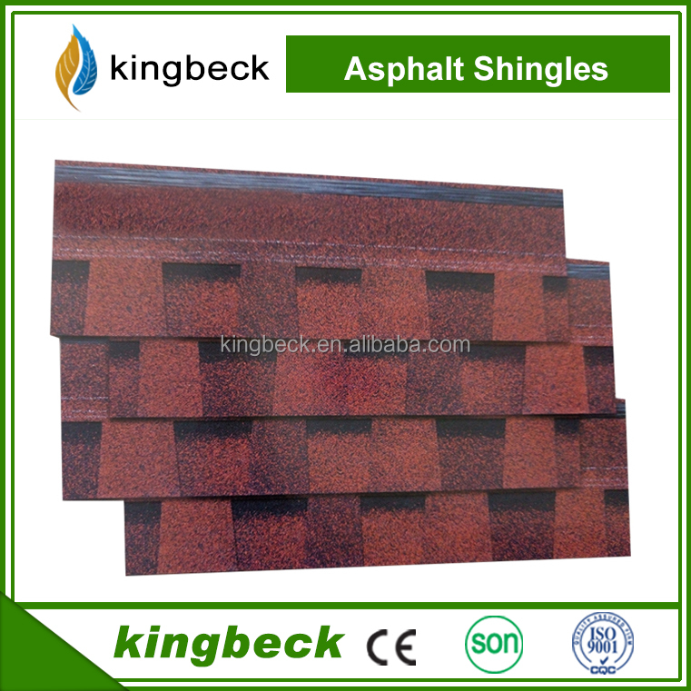 2017 Construction building materials double layer bitumen fiberglass roofing asphalt shingles