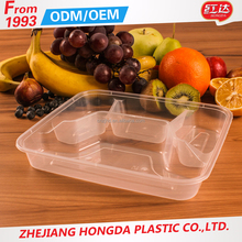 pp microwave and oven safe plastic food compartment container lunch box