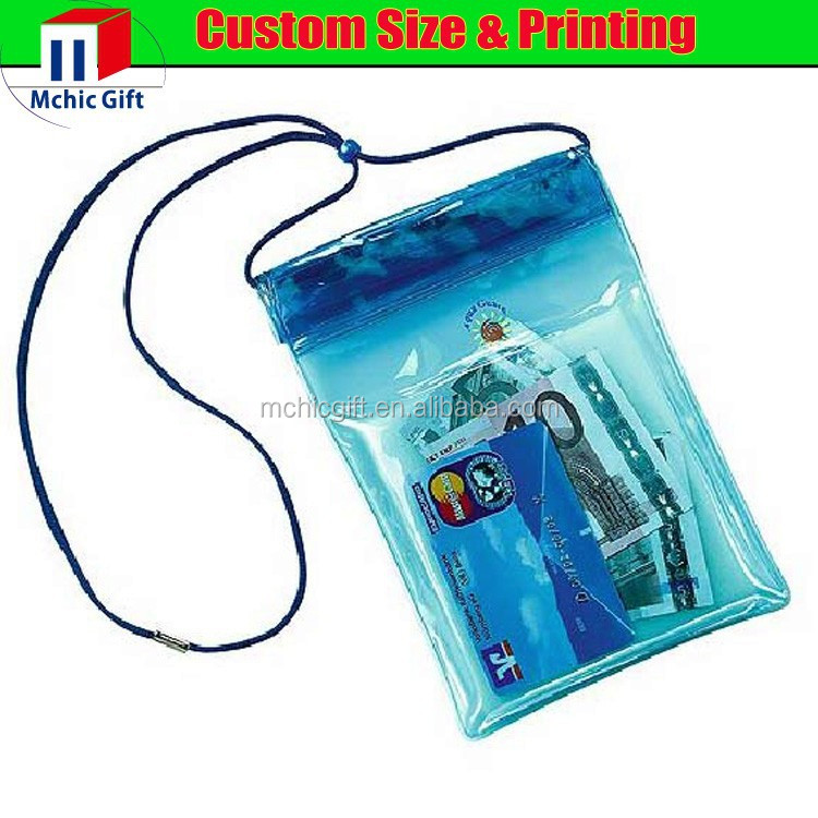 custom cheap soft pvc plastic waterproof document holder /pouch