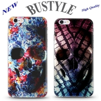 Wholesale the Horror Skull Design High Quality UV Printing Cell Phone Case For Apple iPhone 4 5s 6 plus Mobile cover