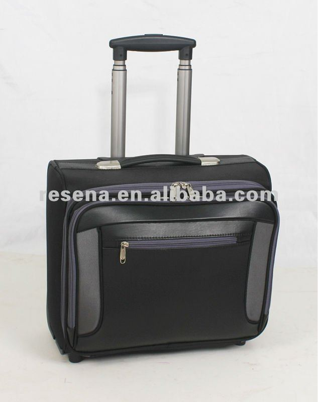 Quality PU Business Tolley Laptop Bag