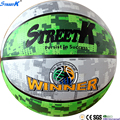 2017 STREETK promotional rubber basketball ball best selling colorful basketball