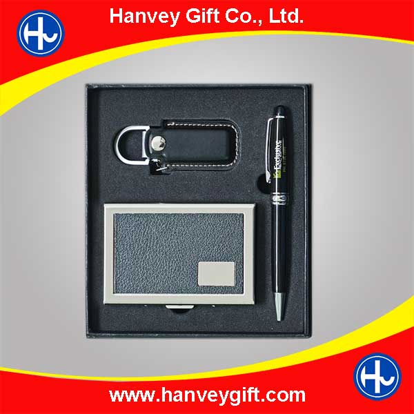 USB flash drive 16gb and card holder business gift set