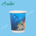 250ml airline double wall paper cup for hot drinking