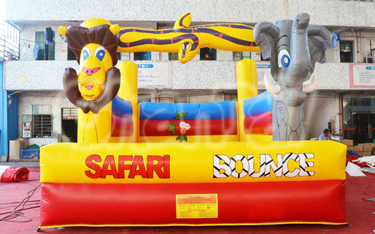 Safari Bounce Elephant and Lion Inflatable Bouncer for Children