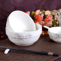 "5""ceramic noodle bowl ceramic soup plate"