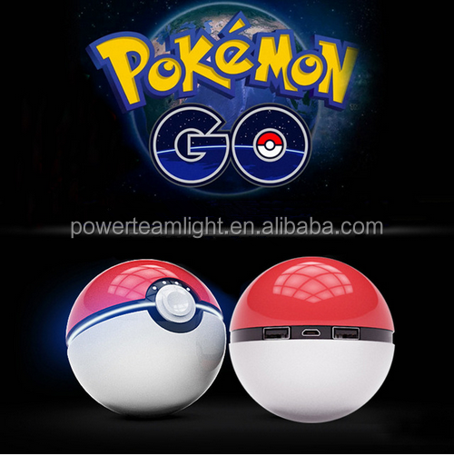 2017 Pokeball toy funny Power Bank 12000 mah Pokemon go Magic Ball LED light Double USB 2.4A Fast Charger for mobile phones