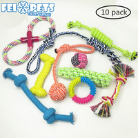 New design cute tough durable rope dog toy 10 pack