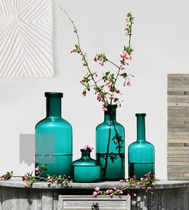 Handblown colored cheap glass flower vases for wedding centerpieces