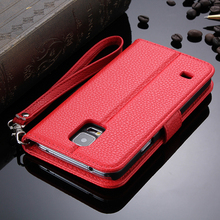 New Arrival Flip Mobile Phone Folding Stand Leather Case For Samsung