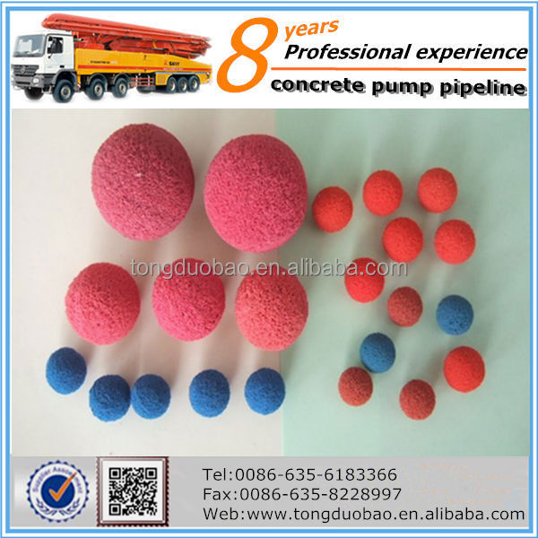 cleaning ball for concrete pump pipeline