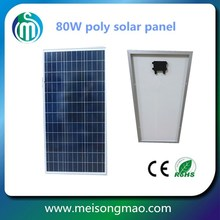 Transparent solar panel price panel solar 80W with high efficiency solar cell