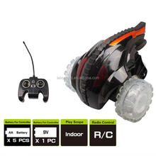 hot toys RC Devil Tumbler Stunt Car 360 Degree Spins With Color Flash Light with transparent wheels dancing car for kids