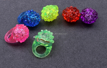 2016 new festival led shine ring party LED Light Up Jelly Bumpy finger ring- Assorted Colors Glow in the Dark
