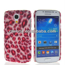 Luxurious Leopard Pattern Leather Coated Hard Case for Samsung i9190 Galaxy S4 Mini