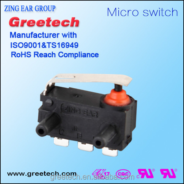 Car switch 6A power tool lever type solder terminals micro switch