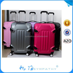 2014 new design popular trolley luggage plastic cover luggage